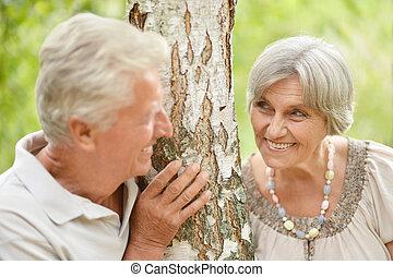 夫婦, 戶外, 年長