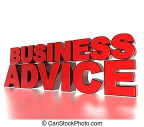 Business Advice - 3D Text Business Advice
