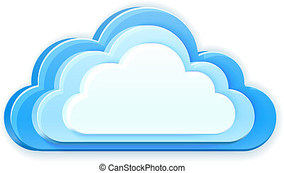 blue cloud - realistic 3d vector blue cloud isolated on...