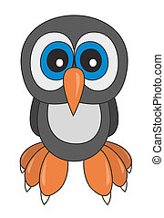 Owlet - Vector illustration of owlet cartoon style