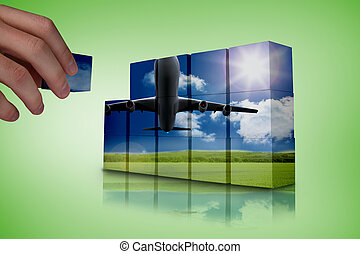 Composite image of hand building wall - Hand building wall...