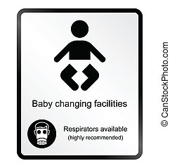 Comical baby changing facilities In