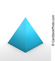 Pyramid Shape - pyramid shape in 3D on white background