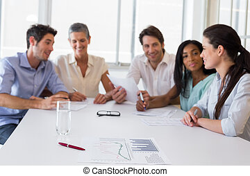 Attractive business people at meeting - Attractive business...