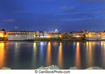 Casco Viejo, Panama City, across the Bay in the twilight