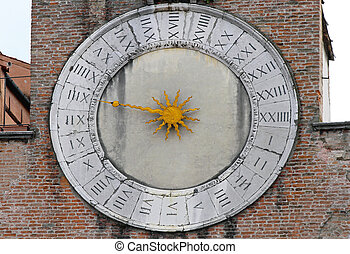 Clock - Big clock at San Giacomo church in Venice