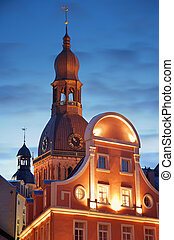 Domsky cathedral. - Evenind view of Domsky cathedral in...