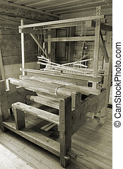 Loom. - Weaving loom in the rural house in Latvia.