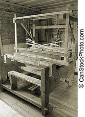 Loom. - Weaving loom in the rural house in Latvia.