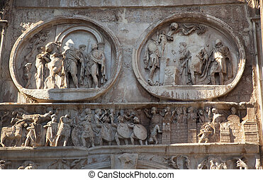 Details Arch of Constantine Rome Italy Stone arch was built...