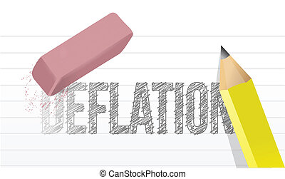 erase deflation concept illustration design