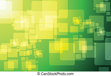 green technology cubes modern illustration design