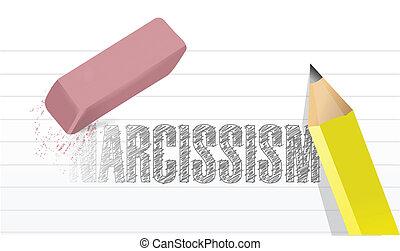 erase narcissism concept illustration design over a white...