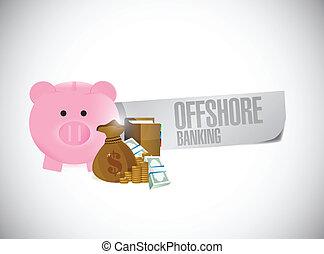 offshore banking sign illustration design