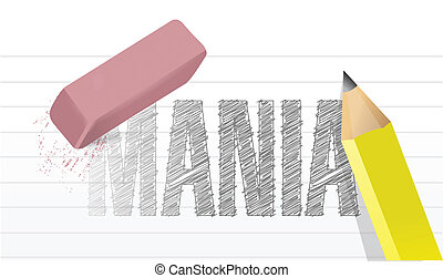 erase mania concept illustration design over a white...