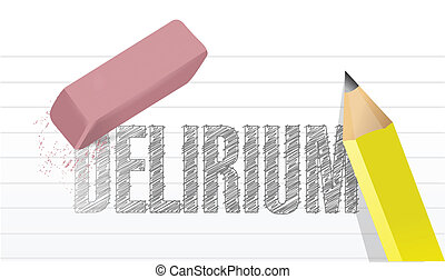 erase delirium concept illustration design over a white...