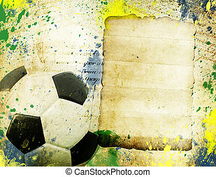 Vintage photo of soccer ball Brazil 2014 - Vintage photo of...