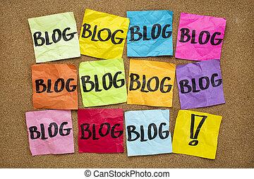you have to blog reminder - internet presence concept -...