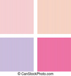 Set of backgrounds - vector set of four different seamless...