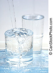 Fresh mineral water - Mineral water falling