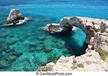 Rock arch Ayia Napa, Cyprus