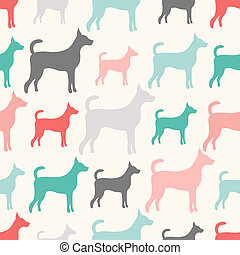 Animal seamless vector pattern of dog silhouettes Endless...