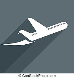 plane - minimalistic illustration of a starting plane, eps10...