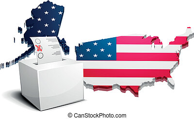 ballot box USA