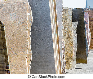 granite slabs - Colorful granite slabs for sale in store...