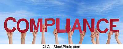 People Holding Compliance in the Sky - Many People Holding...