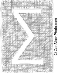 Sigma Sum sign - Freehand Symbol
