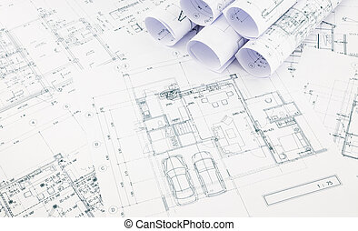 blueprints, floor plan and house plan - blueprints and house...