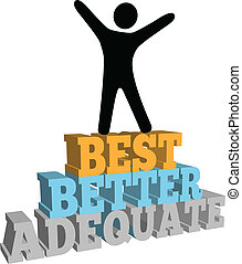 Person celebrate best self improvement - Do your personal...