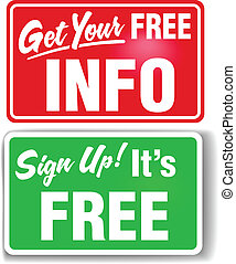 Sign up free info web store signs - Signs get users to sign...