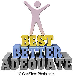 Person Celebrates best personal self improvement - Do your...