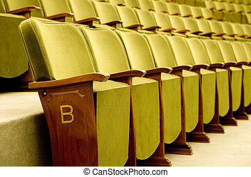 theater seats - Empty seats for cinema, theater, conference...