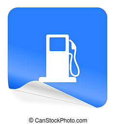 petrol blue sticker icon