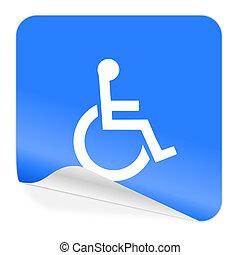 wheelchair blue sticker icon