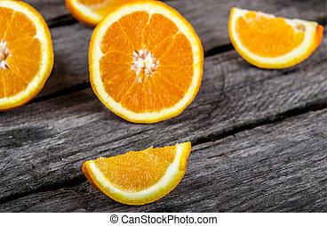 fresh and ripe orange fruits