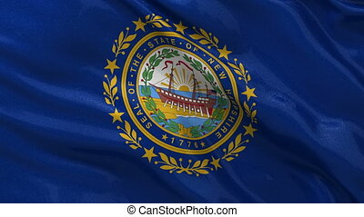 US state flag of New Hampshire loop - US state flag of New...