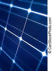 Modern solar panel - Modern Photovoltaic cells in a solar...