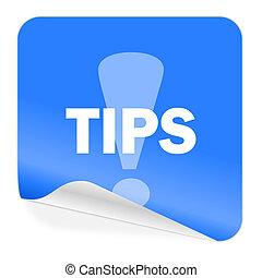 tips blue sticker icon