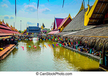 floating market - thailand famous place of attraction...