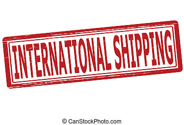 International shipping - Stamp with text international...