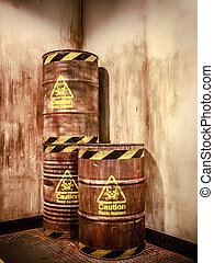 Toxic waste - old Three brown