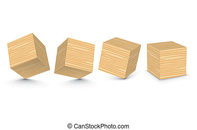 Vector wooden blocks