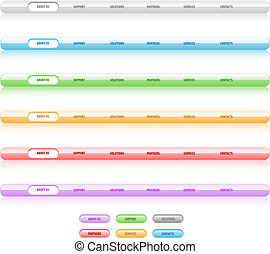 Set of vector navigation templates. Different colors. Easy...