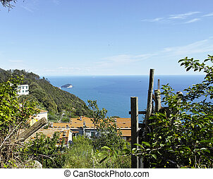 Campiglia - Areial view of camplglia a little village near...