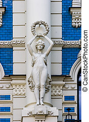 Detail of Art Nouveau building - Detail of Art Nouveau...