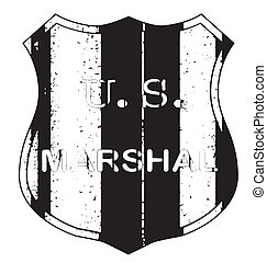 Marshal Shieldl Badge - A United States Marshall shield type...